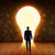 電球 · ドア · ビジネスマン · ルックス · ビッグ · 穴 - ストックフォト © ra2studio