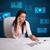 女實業家 · 文書 · 數字 · 未來派 · 辦公室 · 紙 - 商業照片 © ra2studio