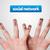Happy group of finger smileys, social network stock photo © ra2studio