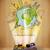 equipaje · viaje · alrededor · mundo · ilustración · sucio - foto stock © ra2studio