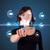 üzletasszony · kisajtolás · virtuális · üzenetküldés · ikonok - stock fotó © ra2studio