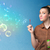 lucht · bubble · Blauw · groene · achtergrond · transparant · oppervlak - stockfoto © ra2studio