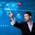 zakenman · social · media · knop · kaart · futuristische - stockfoto © ra2studio