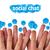feliz · grupo · dedo · smileys · social · conversar - foto stock © ra2studio