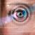 mulher · olho · olhando · moderno · segurança · ciência - foto stock © ra2studio