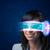 donna · futuro · alto · tech · smartphone · occhiali - foto d'archivio © ra2studio