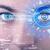 menina · olho · olhando · moderno · mulher · mundo - foto stock © ra2studio