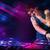 jovem · jogar · toca-discos · cor · efeitos · de · luz · belo - foto stock © ra2studio