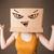młoda · kobieta · karton · głowie · zło · stałego - zdjęcia stock © ra2studio