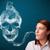 mulher · jovem · fumador · perigoso · cigarro · tóxico · crânio - foto stock © ra2studio