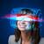 будущем · женщину · высокий · Tech · Smart · очки - Сток-фото © ra2studio