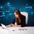 女實業家 · 坐在 · 辦公桌 · 文書 · 美麗 · 年輕 - 商業照片 © ra2studio
