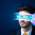 man from future with high tech smartphone glasses stock photo © ra2studio