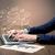 Sending client news letters on laptop stock photo © ra2studio