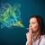 かなり · 女性 · 喫煙 · たばこ · カラフル · 煙 - ストックフォト © ra2studio