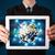 businessman presenting 3d earth globe in tablet stock photo © ra2studio