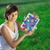genç · iş · kadını · bakıyor · modern · tablet · soyut - stok fotoğraf © ra2studio