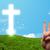 felice · dito · smileys · christian · religione · cross - foto d'archivio © ra2studio