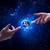 mãos · espaço · tocante · planeta · terra · masculino · deus - foto stock © ra2studio