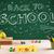 back to school blackboard and student desk stock photo © ra2studio