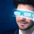 uomo · futuro · alto · tech · smartphone · occhiali - foto d'archivio © ra2studio