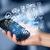 kéz · tart · telefon · kézzel · rajzolt · szövegbuborékok · technológia - stock fotó © ra2studio