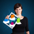 mooie · vrouw · moderne · tablet · kleurrijk - stockfoto © ra2studio