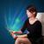 genç · kadın · bakıyor · modern · tablet · soyut · ışıklar - stok fotoğraf © ra2studio