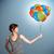 若い女性 · カラフル · 風船 · かなり · 女性 - ストックフォト © ra2studio