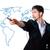 бизнесмен · Мир · карта · мира · человека · технологий · безопасности - Сток-фото © ra2studio