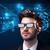 młody · człowiek · patrząc · futurystyczny · smart · wysoki · tech - zdjęcia stock © ra2studio