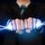 uomo · d'affari · elettriche · fili · fuoco · uomo - foto d'archivio © ra2studio