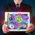 giovani · imprenditore · tablet · moderno · colorato - foto d'archivio © ra2studio