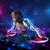dídzsé · játszik · zene · fényeffektusok · fények · fiatal - stock fotó © ra2studio