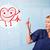 atractivo · médico · feliz · rojo · sonriendo · corazón - foto stock © ra2studio