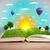 nyitva · könyv · kék · égbolt · fehér · iskola - stock fotó © ra2studio