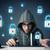 fiatal · hacker · biztonság · számítógép · hálózat · digitális - stock fotó © ra2studio