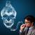 genç · sigara · içme · tehlikeli · sigara · toksik · kafatası - stok fotoğraf © ra2studio
