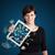 jonge · vrouw · tablet · geld · mooie · business - stockfoto © ra2studio