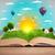 livro · aberto · blue · sky · branco · superfície · nuvens · escolas - foto stock © ra2studio