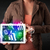 young person holding tablet with graph and chart symbols stock photo © ra2studio