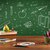 back to school chalkboard and color pencils stock photo © ra2studio
