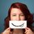 güzel · genç · kız · beyaz · kart · gülümseme - stok fotoğraf © ra2studio