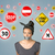 young woman with glued mouth and traffic signals stock photo © ra2studio