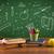 back to school chalkboard and color pencils stock photo © ra2studio