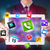 young businessman holding a tablet with modern colorful apps and icons stock photo © ra2studio