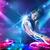 energiek · muziek · krachtig · lichteffecten · jonge · partij - stockfoto © ra2studio