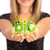 Woman hands holding ECO sign stock photo © ra2studio
