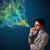 yakışıklı · adam · sigara · içme · sigara · renkli · duman · yakışıklı - stok fotoğraf © ra2studio