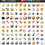 new set of 100 glossy web icons stock photo © radoma